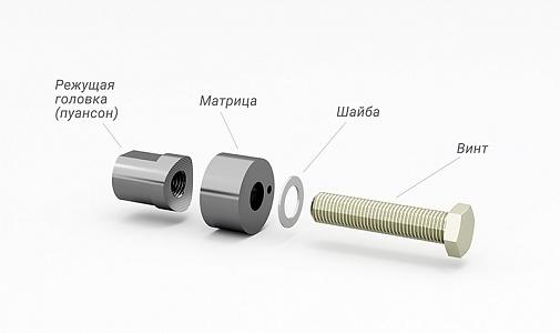 купить устройство для проделывания отверстий в пластиковом бампере AVILINE Punch-16 в ДОЛКАР