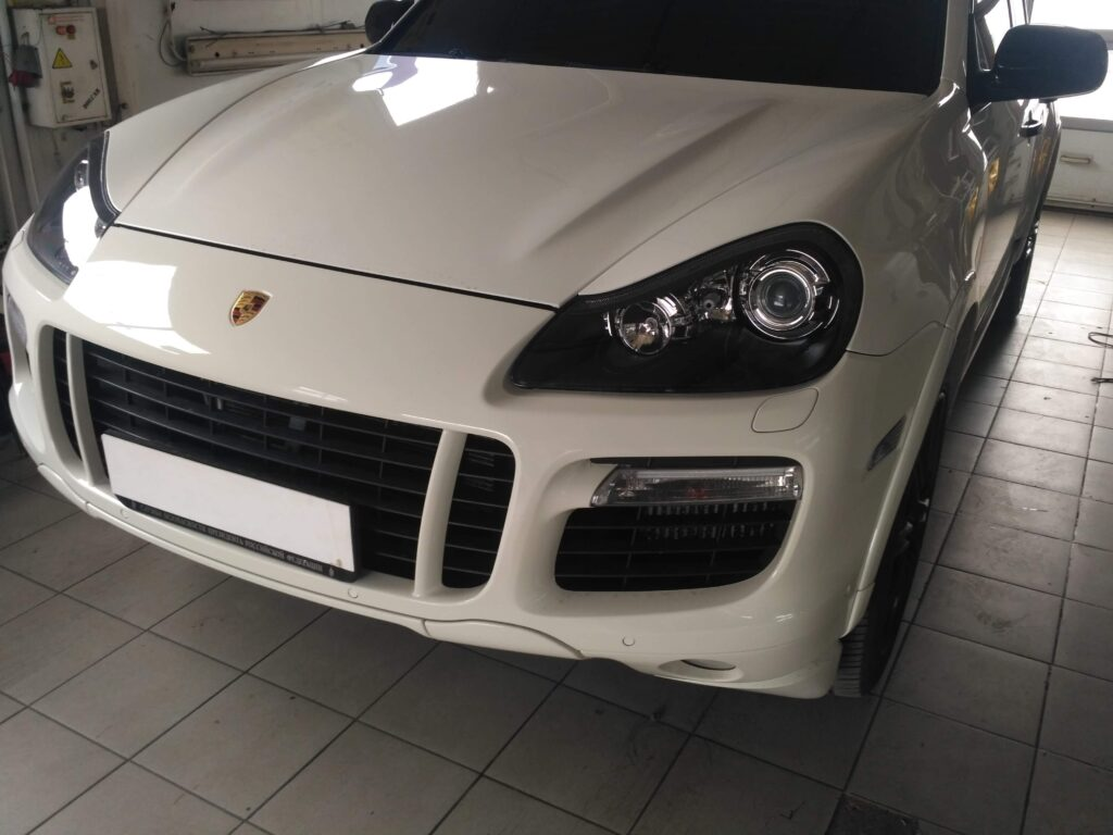 покраска фар Porsche