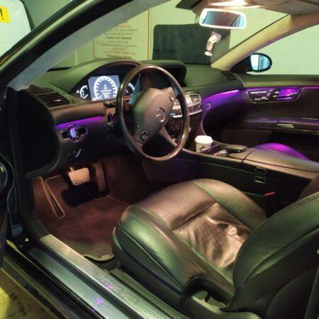 Установка фиолетовой подсветки на Mercedes-Benz S-класс W221
