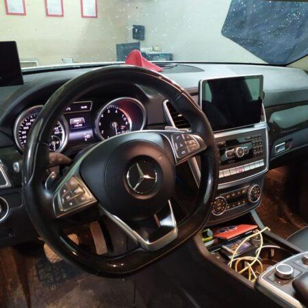 Установка руля от W222 в Mercedes-Benz GL X166