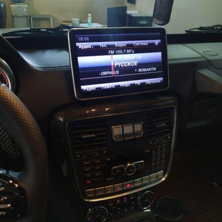 Установка монитора CarPlay Mercedes-Benz w463 G-klasse