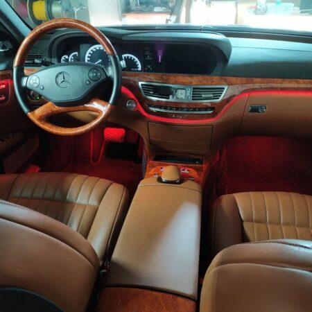 Изменение контурной подсветки Mercedes-Benz w221 S-klasse