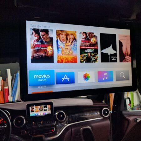 Установка потолочного монитора и Apple tv в Mercedes-Benz V-klasse w447