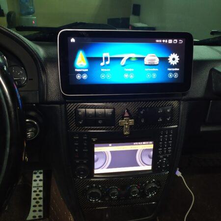 Установка монитора в Gelandewagen W463 Mercedes