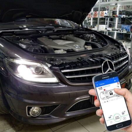 Автозапуск Mercedes-Benz с телефона и родным ключом