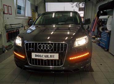 Поворотники как ДХО Audi Q7 drl