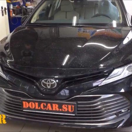 """Установка автозапуска на Toyota Camry, защита Keyless entry от """"удочки"""""""