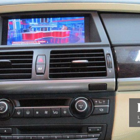 Цифровое тв в BMW X6 штатное управление