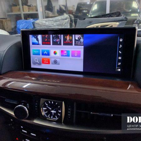 Установка Apple tv 4 поколения и телевидения в Lexus LX570