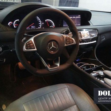 Mercedes C216. Установка спорт-руля в Мерседес