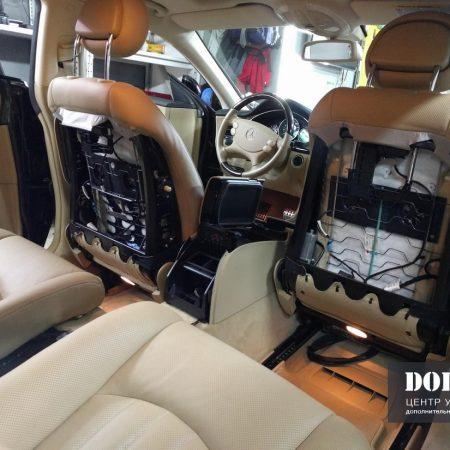 Mercedes C219. Установка задней развлекательной системы в Мерседес