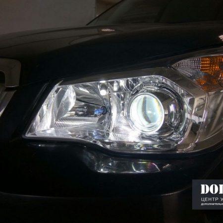 Установка билинз Koito 3″ в Subaru Forester